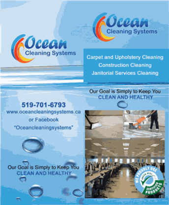 Ocean's Cleaning Systems - Nutrition Consultants - 519-701-6793
