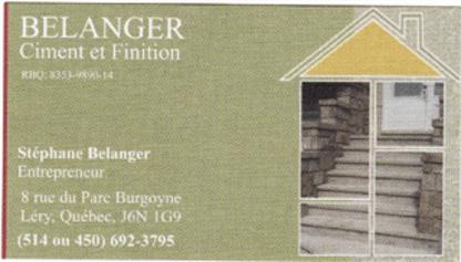 Finition Bélanger - Entrepreneurs en béton - 514-692-3795
