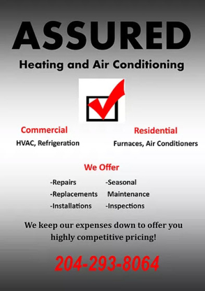 Assured Heating & Air Conditioning - Entrepreneurs en chauffage