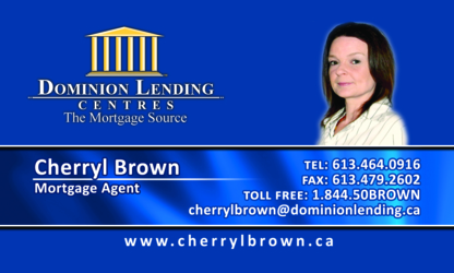 Cherryl Brown Mortgage Agent - Courtiers en hypothèque - 613-464-0916