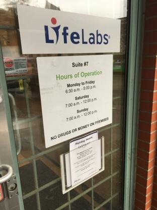 LifeLabs - Laboratoires médicaux - 604-944-7754