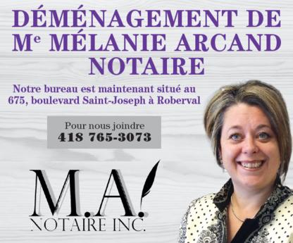 Melanie Arcand - M.A. notaire inc. - Notaries - 418-765-3073