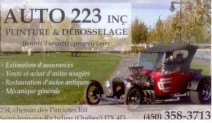 Auto 223 Inc - Réparation de carrosserie et peinture automobile