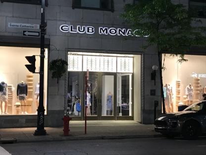 Club Monaco - Sportswear Stores - 514-871-9841