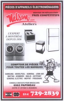 Ateliers Nelson - Magasins de gros appareils électroménagers - 514-729-2839