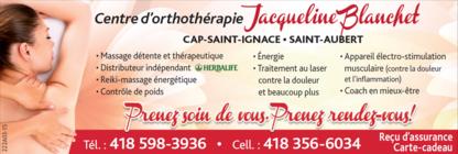 Orthotherapie Jacqueline Blanchet - Massothérapeutes