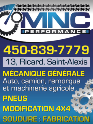 MNC Performance INC - Auto Repair Garages - 450-839-7779