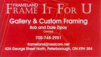 Frameland - Frame It For U - Picture Frame Dealers