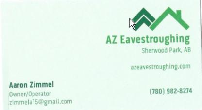 AZ Eavestroughing Ltd - Eavestroughing & Gutters - 780-982-8274