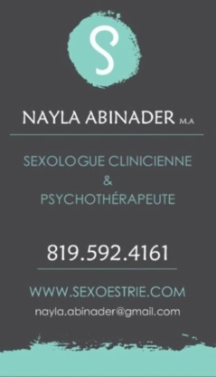 Nayla Abinader Sexologue et Psychothérapeute - Psychotherapy - 819-592-4161