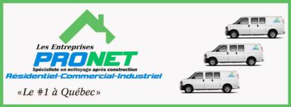 Les Entreprises Pronet Inc - Nettoyage à sec