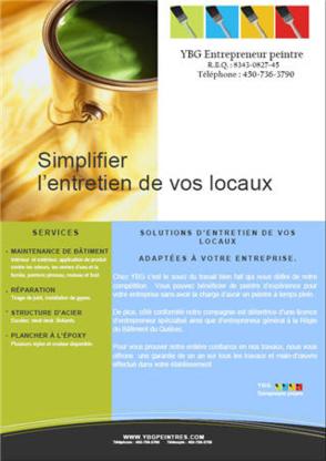 YBG Entrepreneur Peintre - Entrepreneurs généraux - 450-736-3790
