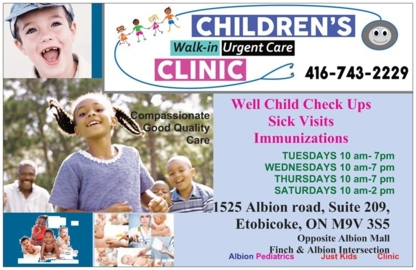 Children's Walk-In Clinic - Medical Clinics - 416-743-2229
