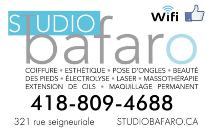 Studio Bafaro Coiffure - Épilation à la cire - 418-809-4688