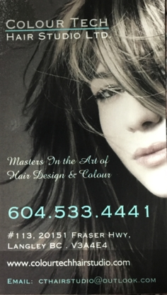 Colour Tech Hair Studio Ltd - Hairdressers & Beauty Salons - 604-533-4441