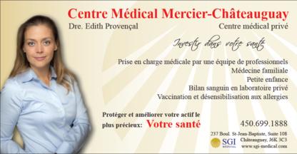 Centre Médical Mercier-Châteauguay - Cliniques médicales - 450-699-1888