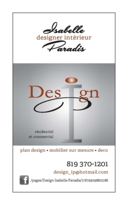 Design Isabelle Paradis Res & Comm - Interior Designers - 819-370-1201