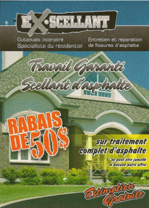 ExScellant Outaouais Inc. - Pavement Sealing - 819-210-2929