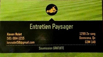 Entretien Paysager Keven Nolet - Entretien de gazon - 581-984-1215