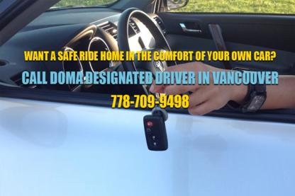 Doma Designated Driver Service - Chauffeur Services