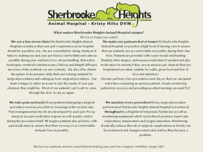 Sherbrooke Heights Animal Hospital - Veterinarians - 705-745-5550