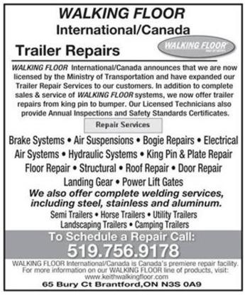 Walking Floor International Inc - Trailer Repair & Service