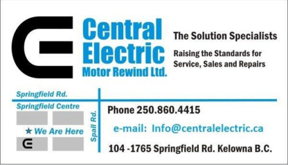 Central Electric Motor Rewind Ltd - Pump Repair & Installation