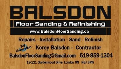 Balsdon Floor Sanding - Floor Refinishing, Laying & Resurfacing - 519-859-1304