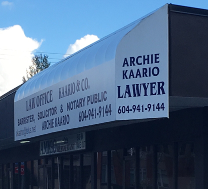 Kaario & Co - Human Rights Lawyers - 604-941-9144