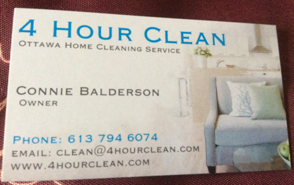 4 Hour Clean & Senior Support Service - Nettoyage résidentiel, commercial et industriel