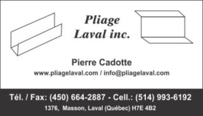 View Pliage Laval's Mascouche profile