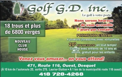 Golf GD Inc - Public Golf Courses