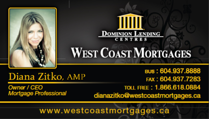 Dominion Lending Centres West Coast Mortgages - Mortgage Brokers - 604-937-8888