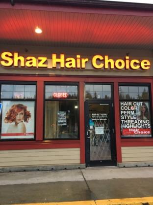 Shaz Hair Choice Ltd - Hairdressers & Beauty Salons - 604-917-0266