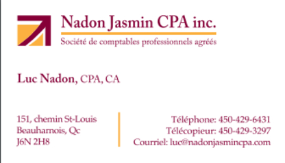 Nadon Jasmin CPA Inc - Comptables - 450-429-6431