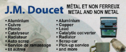 JM Doucet Recyclage Inc - Scrap Metals - 506-790-0405