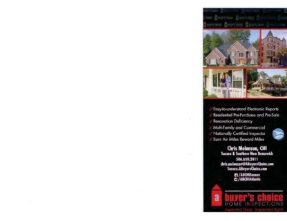 A Buyer's Choice Home Inspection - Home Inspection - 506-650-2411