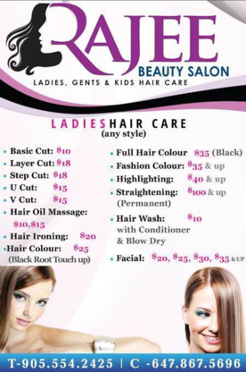 Rajee Unisex Beauty Salon & Spa - Hair & Skin Care - Hairdressers & Beauty Salons - 905-554-2425
