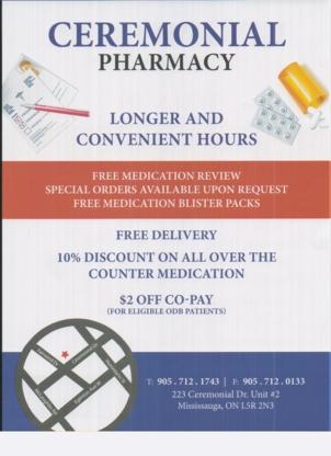 Ceremonial Pharmacy - Pharmacies - 905-712-1743