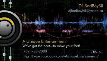 A Unique Entertainment - Dj Service - 709-730-2888