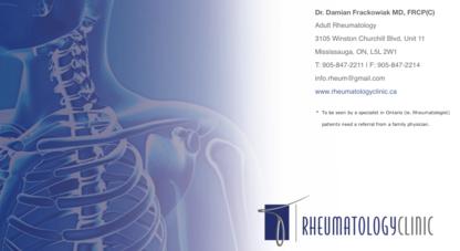 Rheumatology Clinic - Clinics - 905-820-9845
