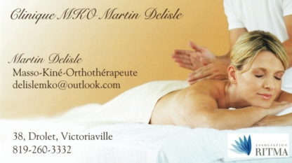Clinique MKO Martin Delisle - Massothérapeutes - 819-260-1888