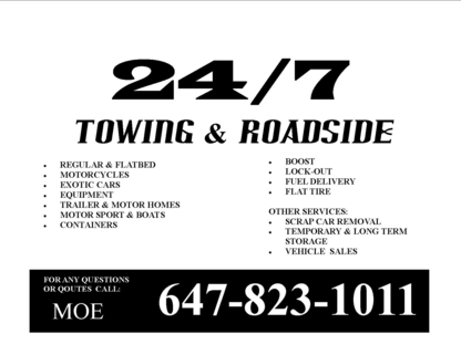 24/7 Towing - Vehicle Towing - 647-823-1011
