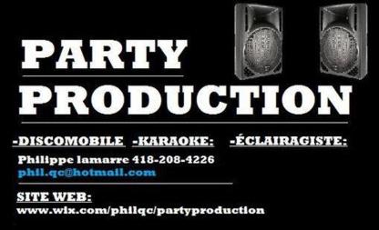 Party Production - DJ Karaoke Animation Éclairage - Dj et discothèques mobiles - 418-208-4226