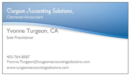 Turgeon Accounting Solutions Chartered Accountant - Accountants - 403-921-9559