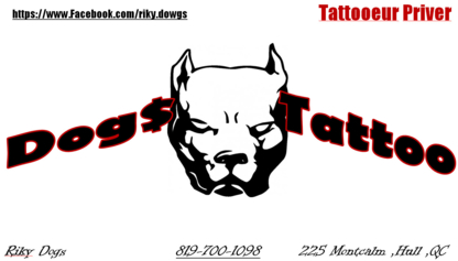 Dogs Tattoo - Pet Care Services - 819-700-1098