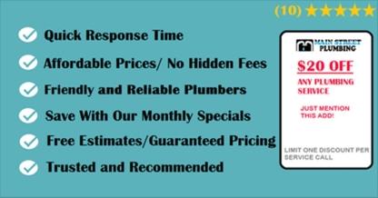 Main Street Plumbing - Plumbers & Plumbing Contractors