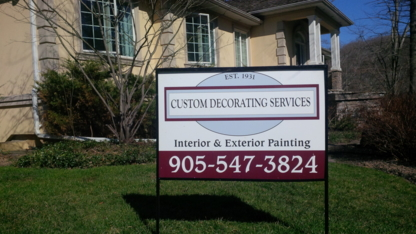 Custom Decorating Services - Painters - 905-547-3824