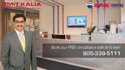 Amit Kalia, Broker - RE/MAX Real Estate Centre Inc - Real Estate Agents & Brokers - 905-339-5111