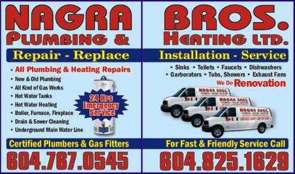Nagra Bros Plumbing & Heating Ltd - Plumbers & Plumbing Contractors